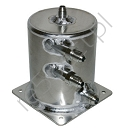 Alloy Ext.JIC FITTING Fuel Swirl Pot 1 Ltr Base Mount